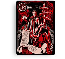 Crowley Woodcut Canvas Print