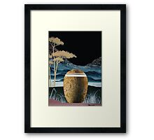 Urn in the Mountains Framed Print