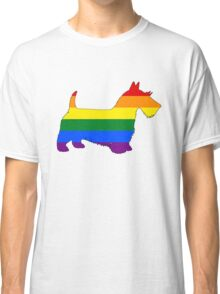 Rainbow Scottish Terrier Classic T-Shirt