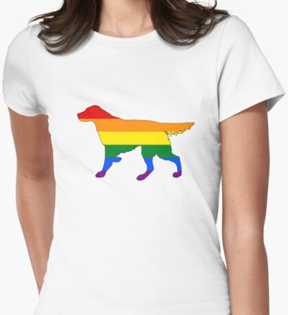 Rainbow Setter Womens Fitted T-Shirt