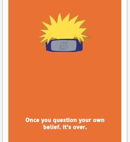 Naruto minimalist  Sticker