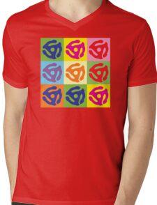 Pop Art Vinyl Record 45 Holder Mens V-Neck T-Shirt