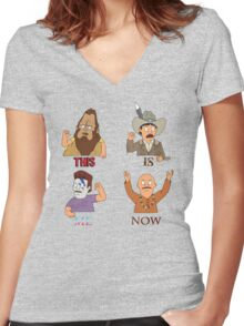 THIS IS ME NOW Women's Fitted V-Neck T-Shirt