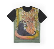 Still Life with Cat Graphic T-Shirt