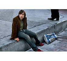 Jason Schwartzman Kicks it to the Curb Photographic Print