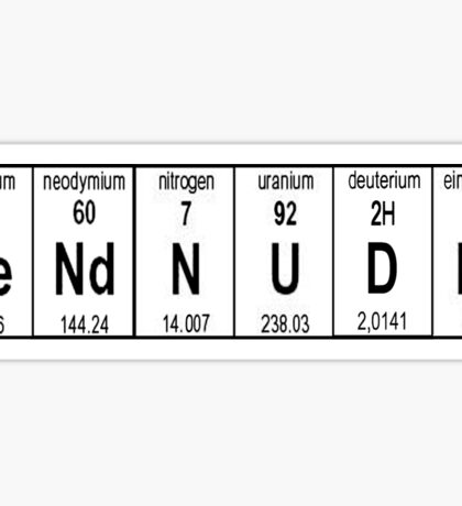 Send Nudes Science Edition Sticker