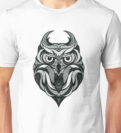 Geometric Barn Owl Unisex T-Shirt