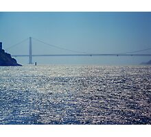 san francisco bay and the bridge Photographic Print