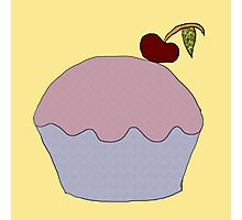 Cute Cupcake Collage Print Photographic Print