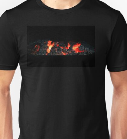 Charcoal fire ready for barbecue. Unisex T-Shirt