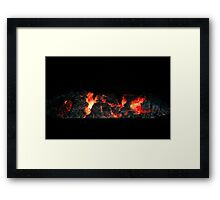 Charcoal fire ready for barbecue. Framed Print