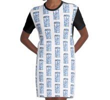 Floral Tardis Graphic T-Shirt Dress