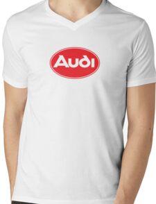 Classic Audi Logo Mens V-Neck T-Shirt