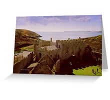 Castle Remains Greeting Card