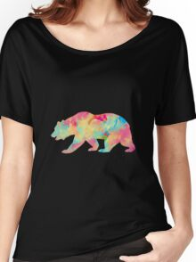 Abstract Bear Women's Relaxed Fit T-Shirt