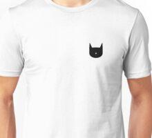 Minimal Black Cat Unisex T-Shirt