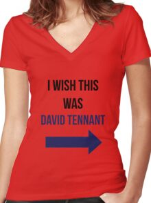I Wish This Was David Tennant Women's Fitted V-Neck T-Shirt