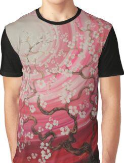 Pink cherry blossom sakura garden  impressionism painting by Ksavera Graphic T-Shirt
