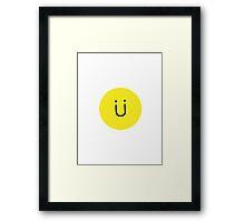 Jack U (Skrillex + Diplo) Smiley Face Framed Print