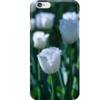 White Frilled Tulip iPhone Case/Skin