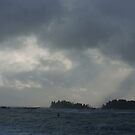 Heavenly Light Over Broken Islands (Ucluelet, Vancouver Island, British Columbia, Canada January 2013) by Edward A. Lentz