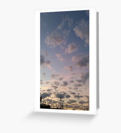 Sky Above Us, Fire Below Us Greeting Card