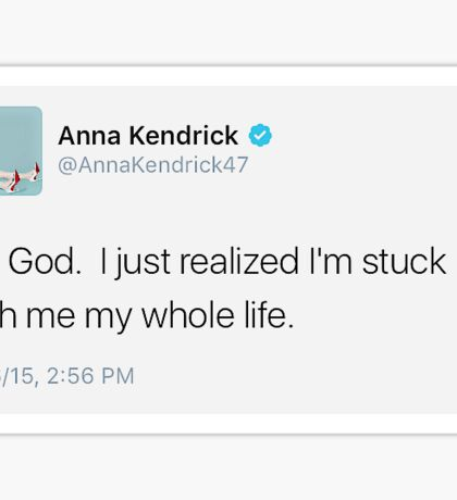 Anna Kendrick Tweet Sticker