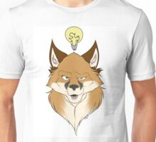 Fox Face White Unisex T-Shirt