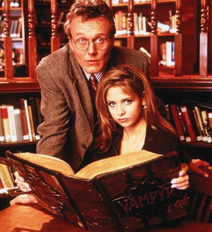 Buffy and Giles Sticker