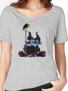 Maleficent Stitch Women's Relaxed Fit T-Shirt