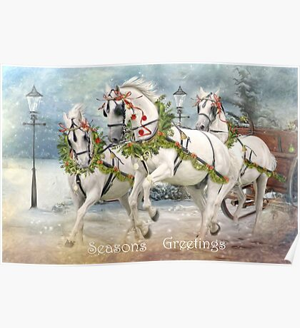 Sleigh Ride In The Snow Poster