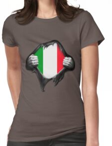 Italy Flag. Proud Italian Womens Fitted T-Shirt