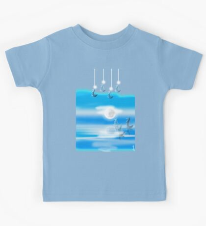 One Moon Light sea Kids Tee