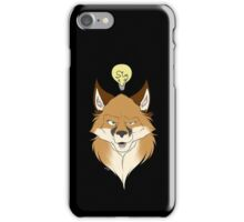 Fox Face Black iPhone Case/Skin