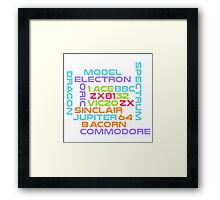 Retro Computers - the golden age Framed Print