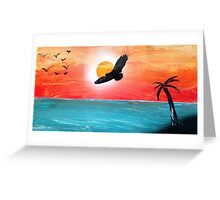 Birdfilled Sunset Greeting Card