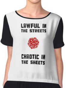 Lawful Chaotic Chiffon Top