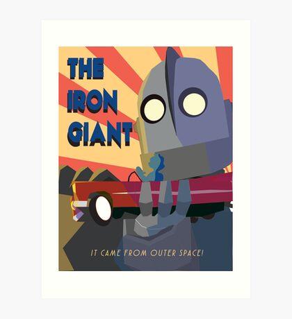 Iron giant poster  Art Print