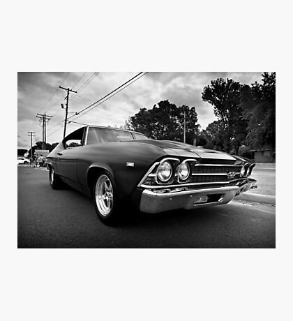 1969 Chevy Chevelle SS b&w Photographic Print