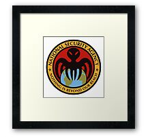 The spectre of the NSA (color) Framed Print