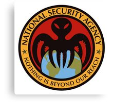 The spectre of the NSA (color) Canvas Print