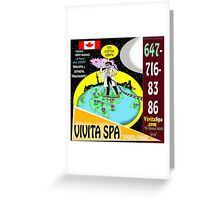 Vivita Spa, Toronto, Canada, Commercial Advert Artwork Greeting Card