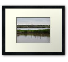 Old Dock to the Relift Pump Framed Print