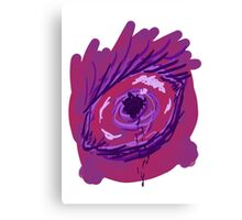 Creepy Black Bleed Eye Canvas Print