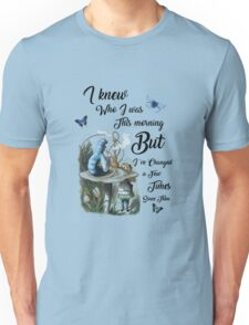 "Alice in Wonderland Quote Vintage Dictionary Art ""I've changed few times..."" Unisex T-Shirt"