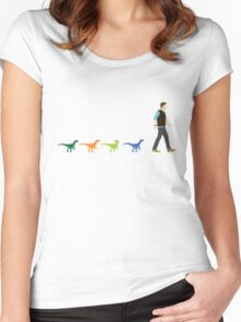 A Walk In The Park (Raptor Squad) Women's Fitted Scoop T-Shirt