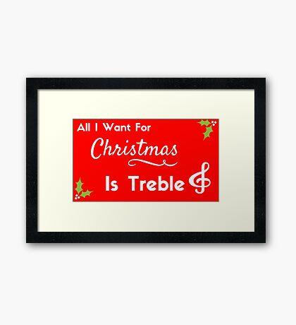 Christmas Treble  Framed Print