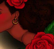 Afro Lady Head Tattoo Sticker
