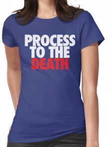 Process To The Death (White/Red) Womens Fitted T-Shirt