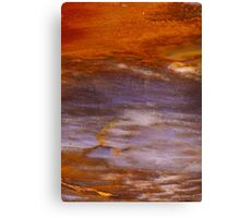 Red Sky Over Mountain Abstract Canvas Print
